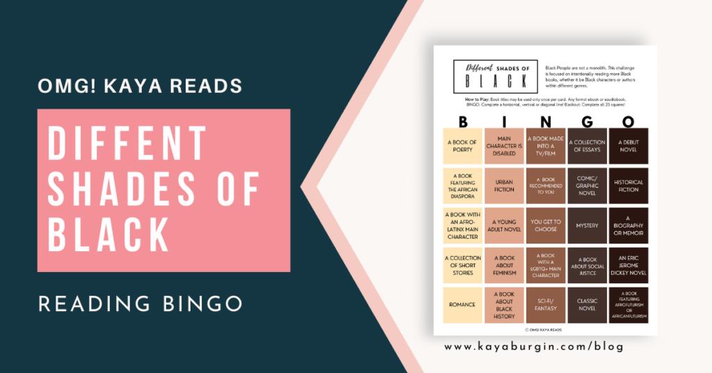 Different Shades of Black Book Bingo